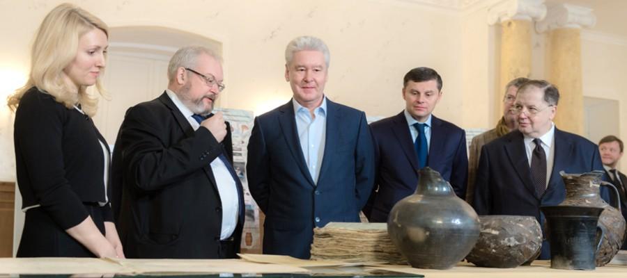 Мэр Москвы осмотрел результаты работ по реконструкции усадьбы Гагарина на Страстном бульваре