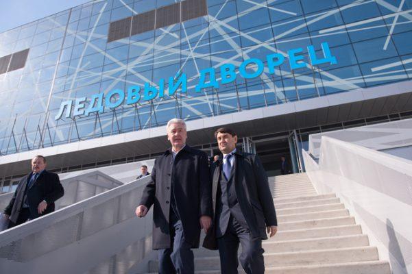 Сергей Собянин объявил о завершении строительства самого современного ледового дворца России