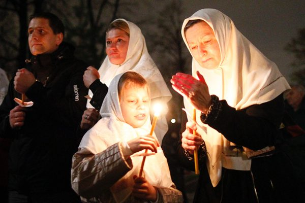 Мэр Москвы Сергей Собянин и Патриарх Кирилл поздравили православных москвичей с Пасхой