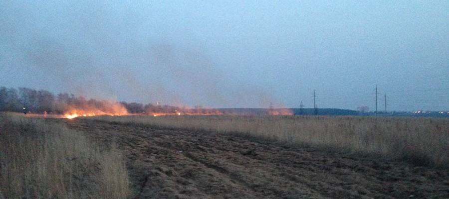 Помните, сжигание сухой травы опасно!