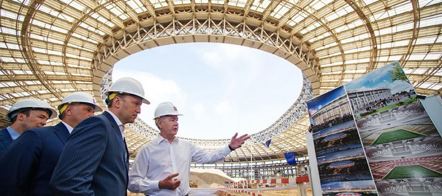 По словам Собянина, к 2018 году в «Лужниках» появится уникальный аквакомплекс