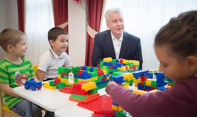 Собянин: 1 сентября в Москве откроются 13 новых детских садов