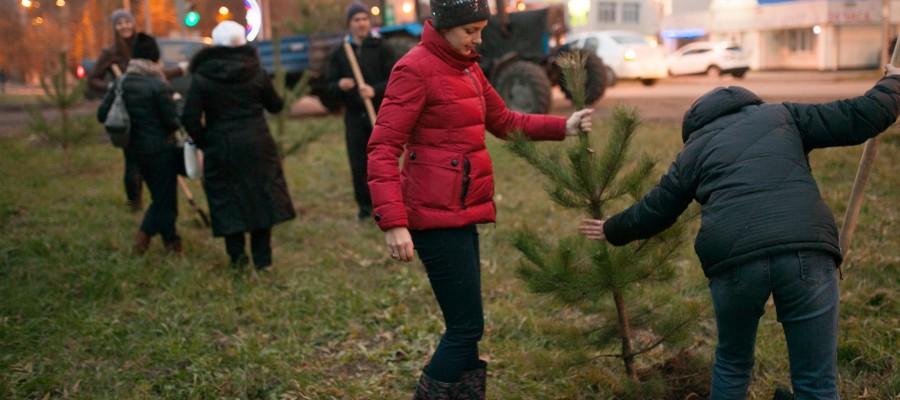 В Москве высадили деревья и кустарники на «Моей улице»