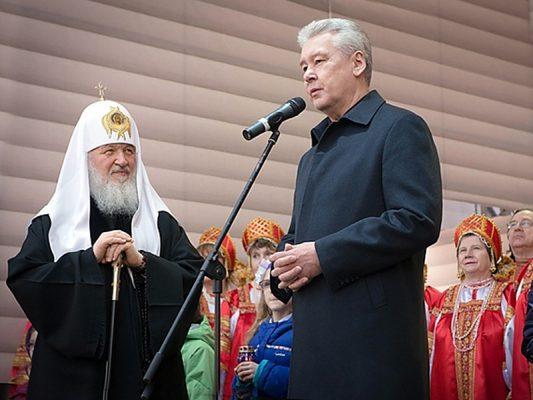 Сергей Собянин и патриарх Кирилл открыли исторический парк на ВДНХ
