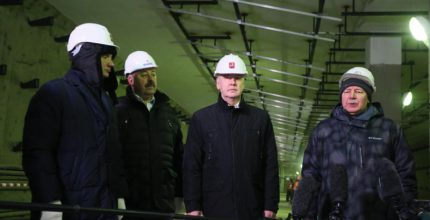 """Собянин: Строительство метро """"Ломоносовский проспект"""" вошло в завершающую стадию"""
