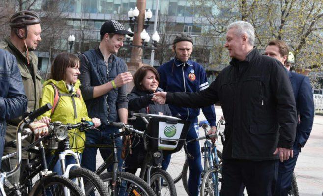 Собянин: В новом сезоне велопроката в Москве появятся электровелосипеды