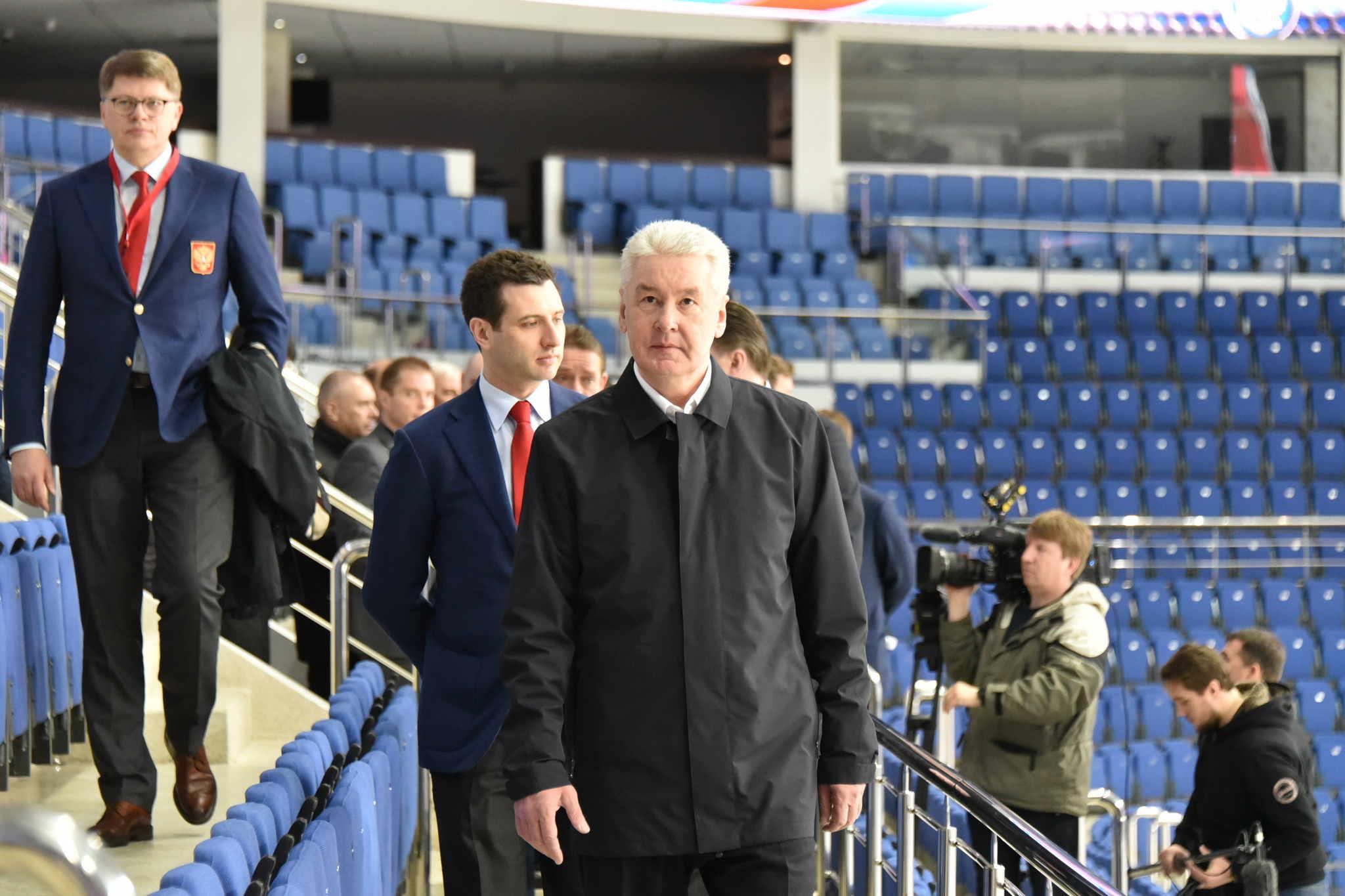 Мэр Москвы Сергей Собянин осмотрел спортивный комплекс «Парк Легенд» в преддверии чемпионата мира по хоккею