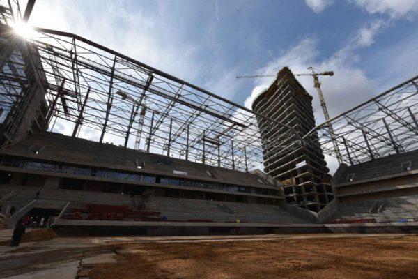 На стадионе ЦСКА прошло выездное собрание фракции «Единая Россия» в МГД
