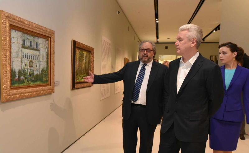 Мэр Москвы Сергей Собянин осмотрел новый частный Музей русского импрессионизма