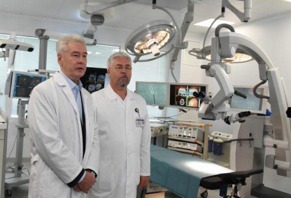 Собянин открыл корпус нейрохирургии в Боткинской больнице