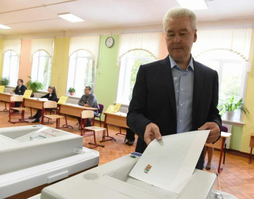 Мэр Москвы проголосовал на выборах депутатов Госдумы