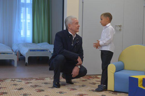 Собянин: Для юных москвичей с начала 2016 года построены 12 новых детских садов