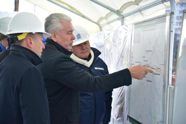 Собянин проинспектировал ход строительства нового участка Северо-Восточной хорды