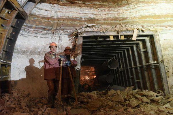На строящейся станции метро «Очаково» начались отделочные работы