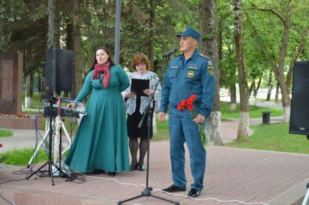 В День памяти и скорби сотрудники МЧС приняли участие в митинге