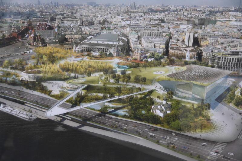 В парке «Зарядье» практически завершили создание искусственных водоемов. Фото: архив