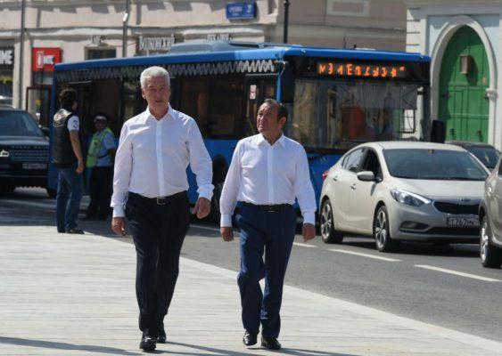 На Сретенке открыли двустороннее движение для общественного транспорта