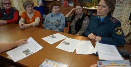 В преддверии Нового года с Троицкими пенсионерами проведена встреча