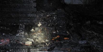 При пожаре в бане погиб мужчина