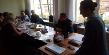 Занятие по нормам пожарной безопасности с общественными советниками поселения