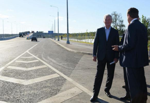 Собянин открыл движение по новой автомобильной дороге в ТиНАО