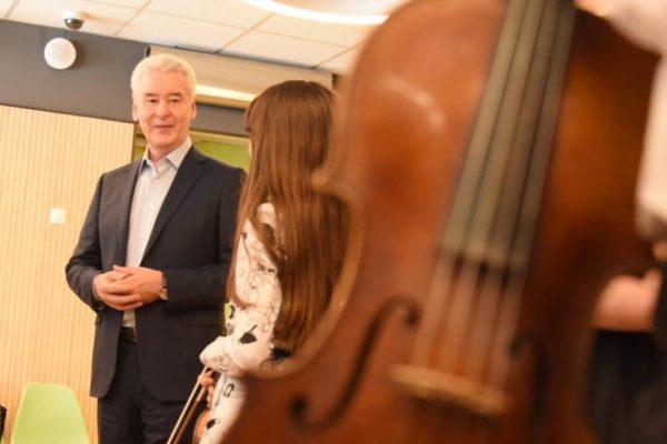 Собянин открыл детскую музыкальную школу им Глиэра после капремонта