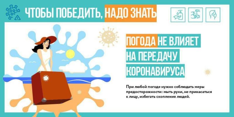 Теплая погода не остановит распространение инфекции коронавируса