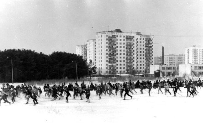 архивное фото с Троицкой лыжни начала 80-х годов