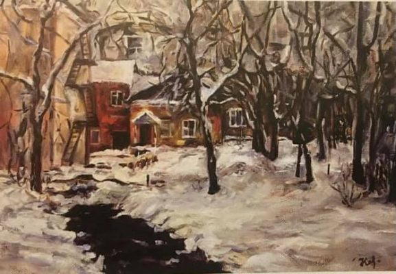«Улица Фабричная», Кочеткова Т.П. Холст, масло, 2007 год